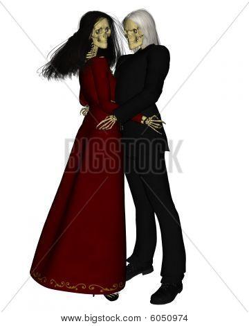 Skelett alle Paare tanzen