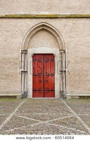Entrance Door Of Saint Walburg Church