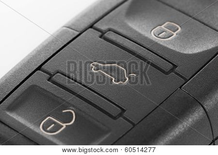 Macro Shoot Of Car Keys With Remote Control System