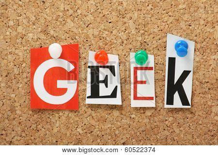 The word Geek