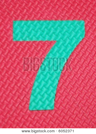 Rubber number 7 . Tread plate texture