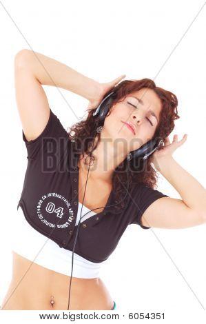 Beutiful Woman With Headphones