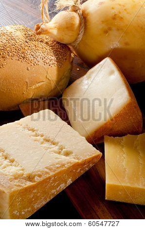 variety of italian cheese