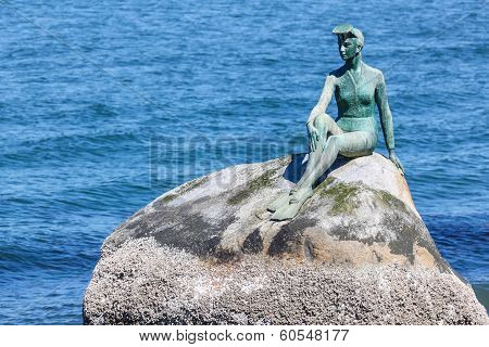 Girl In Wetsuit Statue At Stanley Park, Vancouver