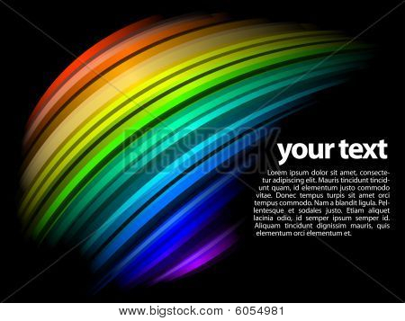 abstract dynamic rainbow design