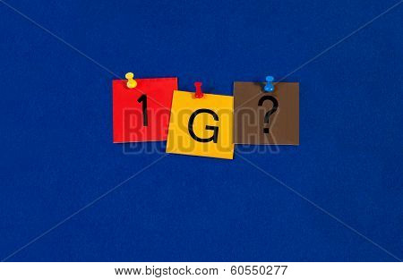 1G, Sign Series For Mobiles, Phones And The Internet.