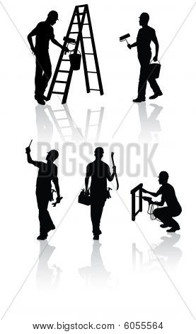 Isolated construction workers