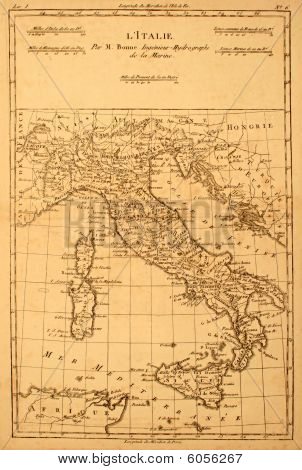 Antique carte d'Italie