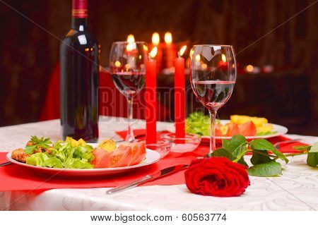 Romantic Dinner With Candles