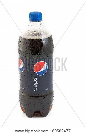 Cold Pepsi Cola Over A White Background