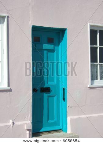 Blue Door - White Wall