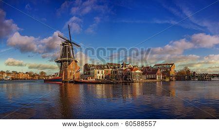 windmill in haarlem, netherland