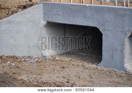 New Concrete Storm Drain