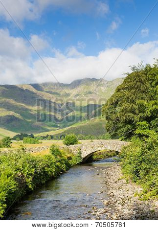 Mickleden Beck river Langdale Valley Lake District by Old Dungeon Ghyll The Lakes Cumbria England uk