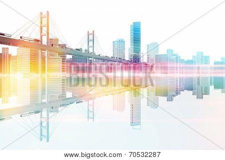 Bridge To The City Skyline