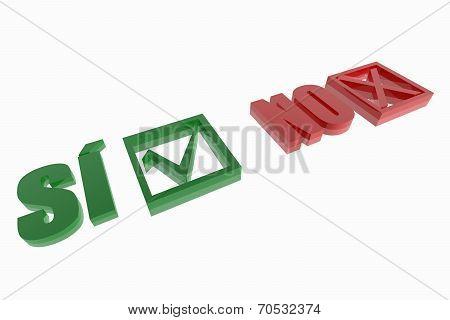 Si And No Choice Symbols