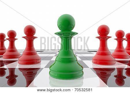Chess Pawn Winner