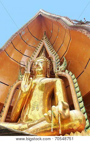 Budda Sitting In Bothi Leave, Thailand