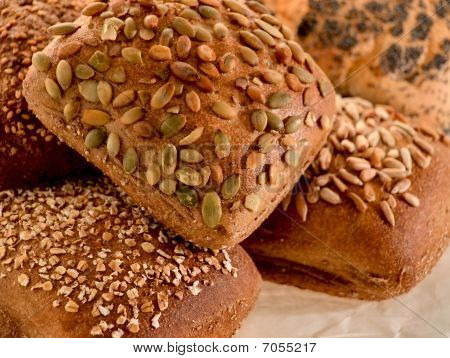 Assortment Of Multi-grain Bread Rolls