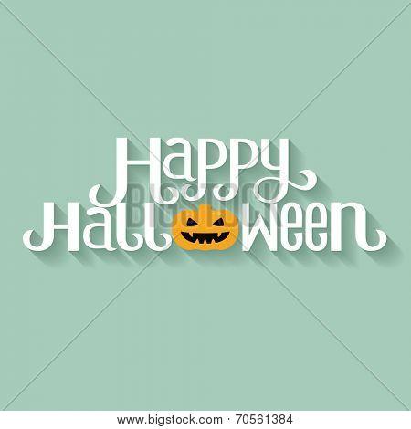 Happy Halloween Typography banner
