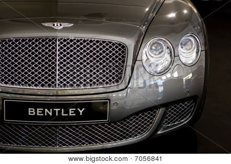 Moscow, Russia - August 27: Metallic Sport Car Bentley At Moscow International Exhibition Interauto