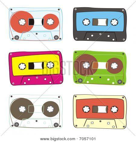 vector audio cassette