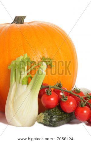 Pumpkin, Courgette, Fennel And Tomato