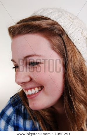 Face Shoot Of Young Girl.