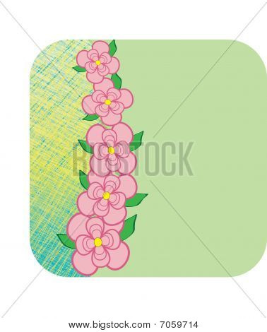 Pink Flowers Frame Background