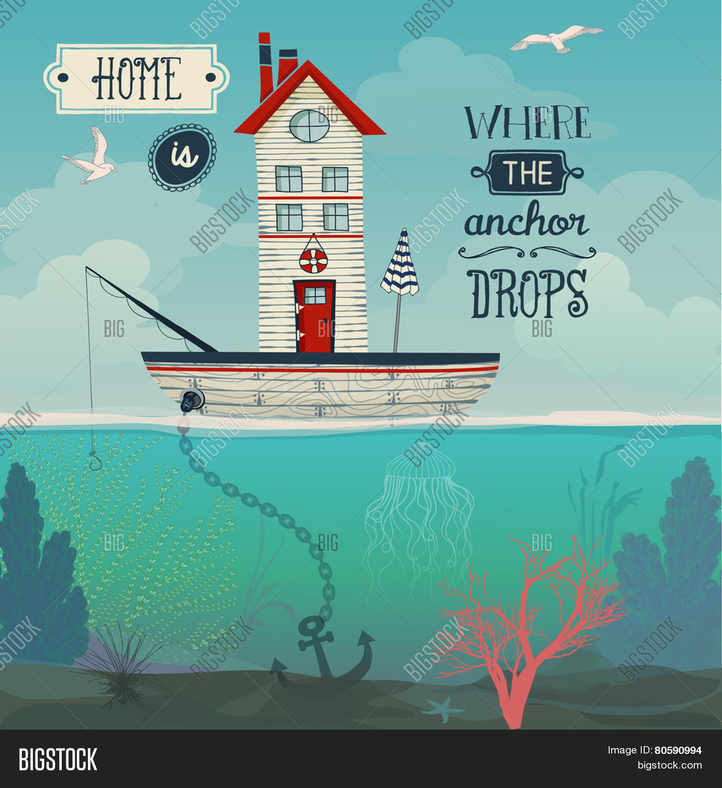 Boat Home - Home Vector & Photo (Free Trial) | Bigstock