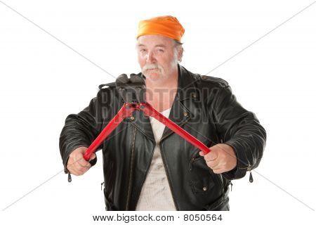 Man With Bolt Cutter