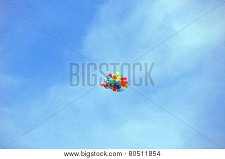 Air balloon in sky