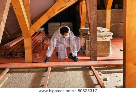 Laying Thermal Insulation - Installing The Planking
