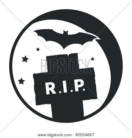 Mound and bat icon