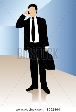 Business man talking in cell phone