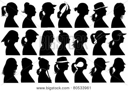 Illustration of women profiles