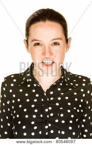 Attractive Girl Sneers