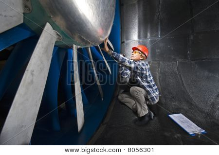 Inspecting The Wind  tunnel