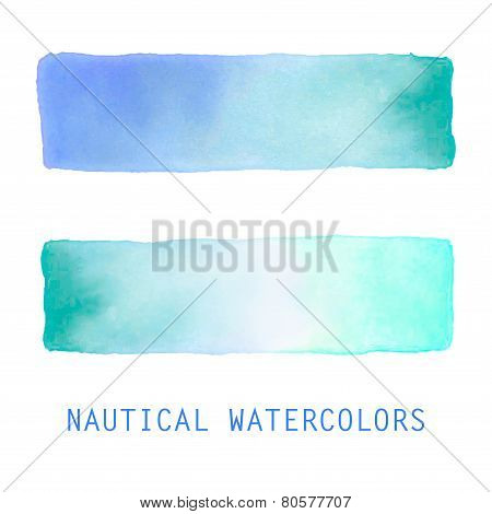 Watercolor banners set.