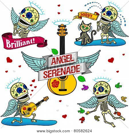 Funny Skeletons. Angel Serenade.