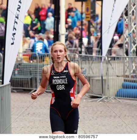 Lois Rosindale Running In The Triathlon
