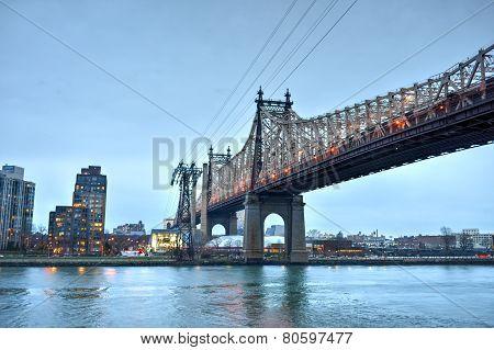 Queensboro Bridge From Manhattan, Ny