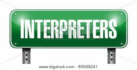 Interpreters Road Sign Illustration Design