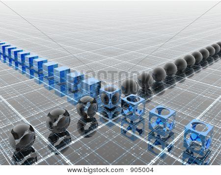 Industrial Blue Line