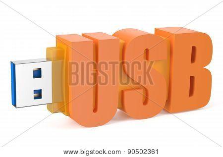 Orange Usb Flash Drive Ss 3.0