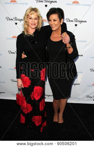LOS ANGELES - MAY 12:  Melanie Griffith, Kris Jenner at the Children's Justice Campaign Event at the Private Residence on May 12, 2015 in Beverly Hills, CA
