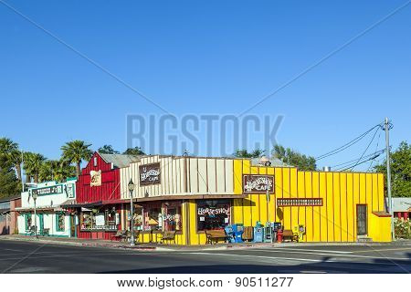 Frontier Street In Afternoon Sun In Wickenburg