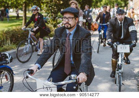Toronto - September 20: Tweed Ride on September 20, 2014 in Toronto, Canada