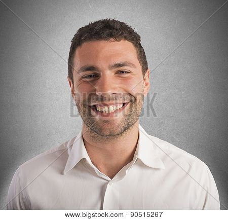 Happiness businessman