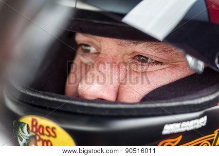 Bristol, TN - Apr 17, 2015:  Tony Stewart (14) straps into his race car before the Food City 500 at Bristol Motor Speedway in Bristol, TN.